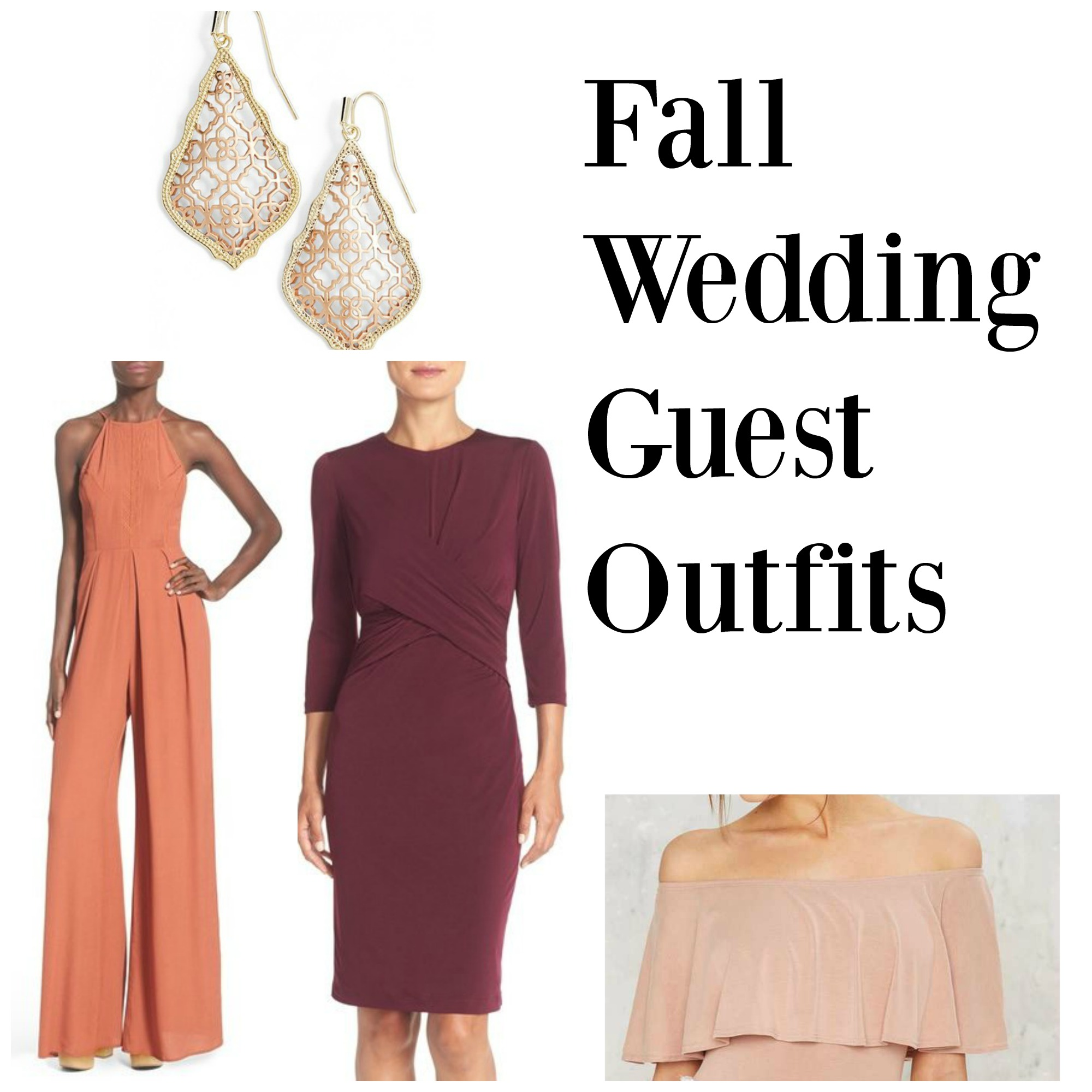 fall wedding guest outfits fierce looks